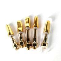 Vape Cartuchos Bobinas de cerâmica Atomizers depósitos vazios de vidro Vape Pen Cartuchos E cigs .5ml 1ml para Thick Oil Carrinhos vaporizador TH205 TH210