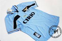 Envío gratis Lazio 1999/00 Home Salas # 9 Mihajlovic # 11 INZIHI # 21 NESTA # 13 CRESPO # 10 Veron # 23 Claudio # 7 Pancaro # 15 Old Soccer Jersey