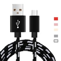 Nylon Micro USB Cable Fast Charging Mobile Phone Data Sync C...
