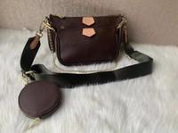 احدث 3 مجموعات / قطعة حقائب النساء أزياء مصمم حقائب الكتف عالية الجودة حقيبة العلامة التجارية حجم 24 * 13 * 4.5cm ونموذج 68118