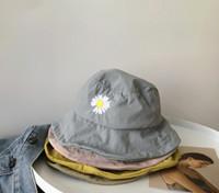 Cappelli casual da ragazza estate Bambini Deisy Ricamato Berretto Berretto Bambini Thin Fisherman Hat Boys Girls Visiera Caps A2457