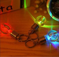 SXI 50pcs / lot 참신 LED 전구 조명 미니 선물 아크릴 색상 변경 키 체인 야간 램프