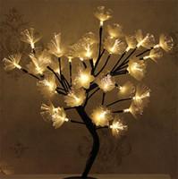 Branche d'arbre fibre optique couleur lumières de mariage Lampe de table Chaîne Night Light Maiden Coeur Chambre Décor chaud Vente 39 5xbC1