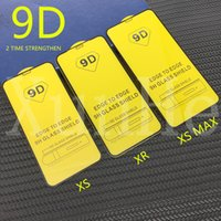9D full cover tempered glass for iPhone XR XS MAS X 8 7 6 sc...