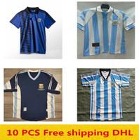 1998 1999 1986 1978 2006 1994 Argentinien Retro Fußball Jersey Vintage Classic 1996 1997 Argentinien Retro Maradona Diego Simeone Batistuta