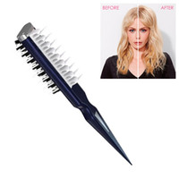 Estilo de cabelo Fluffy Shark Fin Comb portátil Professional Hair Styling Suave Hair Styling Comb para as Mulheres Homens New Style Pente preto