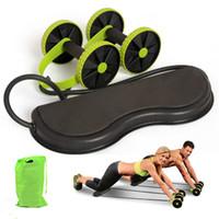 Muscle Egzersiz Aletleri Ev Spor Ekipmanları Çift Tekerlek Karın Güç Tekerlek Ab Merdane Gym Merdane Eğitmen Eğitimi