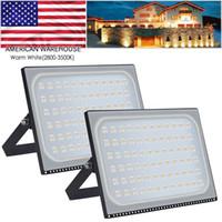 울트라 슬림 투광 조명 500W LED 홍수 조명 2800-3500K 따뜻한 흰색 야외 조명 LED 프로젝트 램프 옥외 보안 조명 110V 뜨거운 판매
