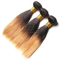Mongolian Straight 1B 27# Human Hair Extensions Ombre Straig...