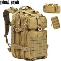 50L Assault Bags Army Tactical Molle Backpack Outdoor Hiking...