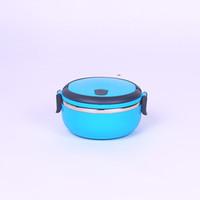 Isı Koruma Öğle Yemeği Kutusu Öğrenci Bento Kutusu Yemeği Kutusu Dairesel Renk Mavi Yeşil Katmanlı MonoLayer Çift Güverte Üç Katmanlar 11 5SX K1
