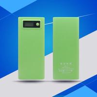 2019 2USB 8x 18650 Bricolage Portable Batterie externe solide grande capacité Power Case Case Case lcd affichage 2x lampe de poche sans batterie no-we