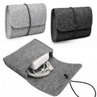Pochette de sac à manches feutre pour chargeur / souris adaptateur d'alimentation Boîtier Soft Sac Sol Stockage pour Mac MacBook Air Pro Retina