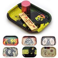 Metal Bandeja de Rolamento de Tabaco 17 * 13 * 1.8cm Metal Tobacco Herb Rolo de Mão Tubo De Cigarro Cigarro Rolling Cone Maker Herb Storage Case