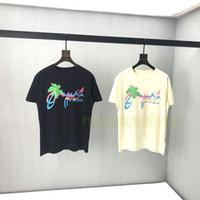 2020 новой весна лето Luxury Италия Европа Hawaii Джунгли Дерево печать Tee Mens конструктора футболка Мужчины Женщина с коротким рукавом Хлопок Tshirt