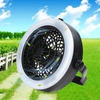 2 en 1 Lanterne de camping de LED portable avec ventilateur de plafond lampe de poche pour randonnée en plein air Pêche de pêche et urgences Tente KG-79