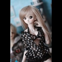 BYBJDHOME New BJD SD Doll Clothes set Spotted Top + Leopard ...