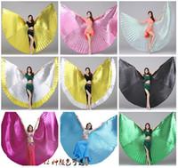2019 NEW Женщины Высокое качество танец живота Isis крылья восточный дизайн Новые Крылья без палочки 13 цветов