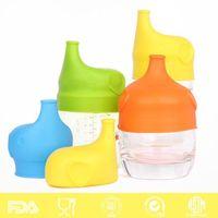 سيليكون سيبي الأغطية غطاء الحلمة لأي حجم الاطفال القدح كأس تسرب الأطفال الصغار للرضع والأطفال الصغار BPA الحرة 5 ألوان LXL544-1