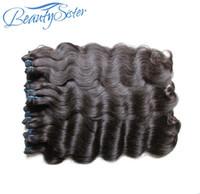 Großhandel Brasilianische jungfräuliche Haarbündel 1kg 10 pieces lot Unverarbeitete brasilianische remy menschliche haare bündeln weben natürliche farbe von einem spender