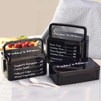 Microondas Vajilla Material saludable Caja de almuerzo Cajas de Bento Contenedor de almacenamiento de comida Caja de comida 2 capas 1915 ml VF0002