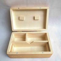 Квадратная древесина stack box lete lete нефтяные контейнеры для беговых контейнеров набор воск бамбук для хранения табачных банкнот бамбук деревянные воск Wax 2 размер для сухого трав