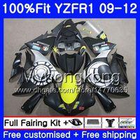 Injection pour Yamaha YZF 1000 R 1 YZF R1 2009 2011 2012 2012 241HM.AA YZF-1000 YZF-R1 YZF1000 YZFR1 Appartement Silver Nouveau 09 10 11 12 Kit de carénage