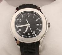 Nuovo orologio automatico di qualità del pacchetto di orologio MeN quadrante nero argento cinturino in gomma elastico trasparente indietro 5167 / 1A -001 orologio