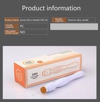 Taşınabilir DRS 40 Pins Mikro İğne Terapi Sistemi Microneedle Dermaroller Derma Damga Rulo Anti Skar Kırışıklık Sökme