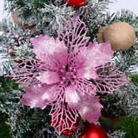 Рождественский цветок Mold DIY из углеродистой стали высечки блеск Рождество цветок дерево Висячие цветы Искусственный цветок Xmas Декор OOA7416-5