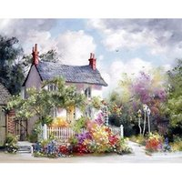 Diy Painting Unframed House In The Forest Diy Painting By Nu...