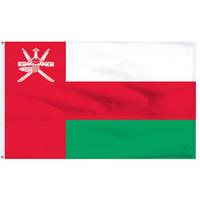 Bandiere Oman bandiera 90x150cm personalizzato 3x5Ft OM OMA nazionale del Sultanato dell'Oman 0.9x1.5m Nazione bandiera della bandierina Qualsiasi Stile