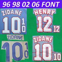 2021 Benzema Font Zidane 96 98 02 06 18 Retro Baskı Futbol Nadimleri Henry Pogba Oyuncunun Damgalama Çıkartmaları Futbol Harfleri Plastik Baskılı Numara