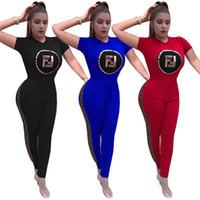 d3f77f6cdcece Wholesale girls plus size leggings online - Women Letters Print Tracksuit  Summer Short Sleeve T shirt
