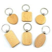 Kimter em branco chaveiro chaveiro quadrado coração retangular forma personalizada edc madeira chaveiro handmade keyring para artesanato diy fazendo g199f