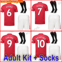 Camisa de futebol do FC Manchester POGBA 2019 2020 Camisa de futebol do LINGARD LUKAKU RASHFORD UniTEd UtD 19 20 uniformes de homem adulto soccer jerseys football shirt