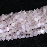 "Hurtownie Natural Orygine Purple Pink Kunzite Spodumene Diament Kształt Luźne Koraliki Fit Biżuteria DIY Naszyjnik 16 ""05330"
