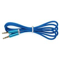 Cáscara helada Cable de audio trenzado Audio 3.5mm macho a macho Cable auxiliar para iPhone Car Auricular Cable de línea auxiliar Cable Aux 100 unids