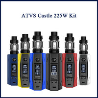 Authentique ATVS Castle 225W Kit VW TC Box Mod 5ml SR-11 Réservoir Atomizer E Cigs Vape Kits Original