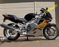 Motorradverkleidungen für Honda CBR600 F4 CBR 600 600F CBRF4 CBR600F4 Sliver Black Bodywork Verkleidung 99 00 1999 2000 (Spritzgießen)