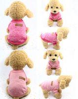 Brasão New Dog Pet malhas camisola do velo espessamento suave Pup Quente Cães Camisa de Inverno Pet Dog Clothes Cat Soft filhote de cachorro Customes roupa