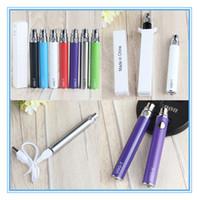 MOQ 10PCS Ugo Ego-T-Batteriepass durch Ego-u-Batterien mit MIRCO-USB-Kordel, die aus dem unteren Vape-Stift 510-Thread für E-Zigarette aufgeladen ist