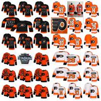 Philadelphia Flyers Jersey 28 Claude Giroux 79 Carter Hart 19 Nolan Patrick 17 Wayne Simmonds 93 Jakub Voracek Hockey Jerseys Couvert Mens