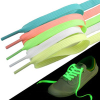 Luminous Schnürsenkel Flache Schnürsenkel Glow In The Dark Night Bunte Neonlicht Up Sport Shoelaces Erwachsene Kinder Weihnachtstag Partei