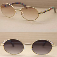 5b9cc6ab76 Wholesale golden peacock for sale - Luxury Brand Natural Peacock Wooden  Legs Sunglasses Retro Round Sun