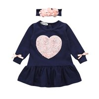 Baby Girls Clothes Long Sleeve Girls Dress Baby Kids Girls F...