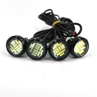 4PCS 12V 15W ABS MATERIAL BIL REVERSING LAMP EAGLE EYE LED DAYTID RUNNING DRL Backup Light Driving Light Reversing Light