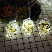 Cadılar Bayramı Evil Yüz Kafatası Işıklar Dize Lambası Tatil Parti Dekorasyon Dize Işık Pil Cadılar Bayramı Süslemeleri JK1909KD İşletilen