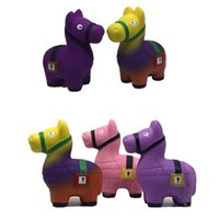 New 5 Color Squishy PU Fortnite rainbow Llama toys squishy S...