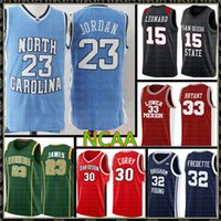 NCAA MJ 23 Michael Jersey University Lebron 23 James 13 Harden 33 Bird Kawhi 15 Leonard كرة السلة الفانيلة